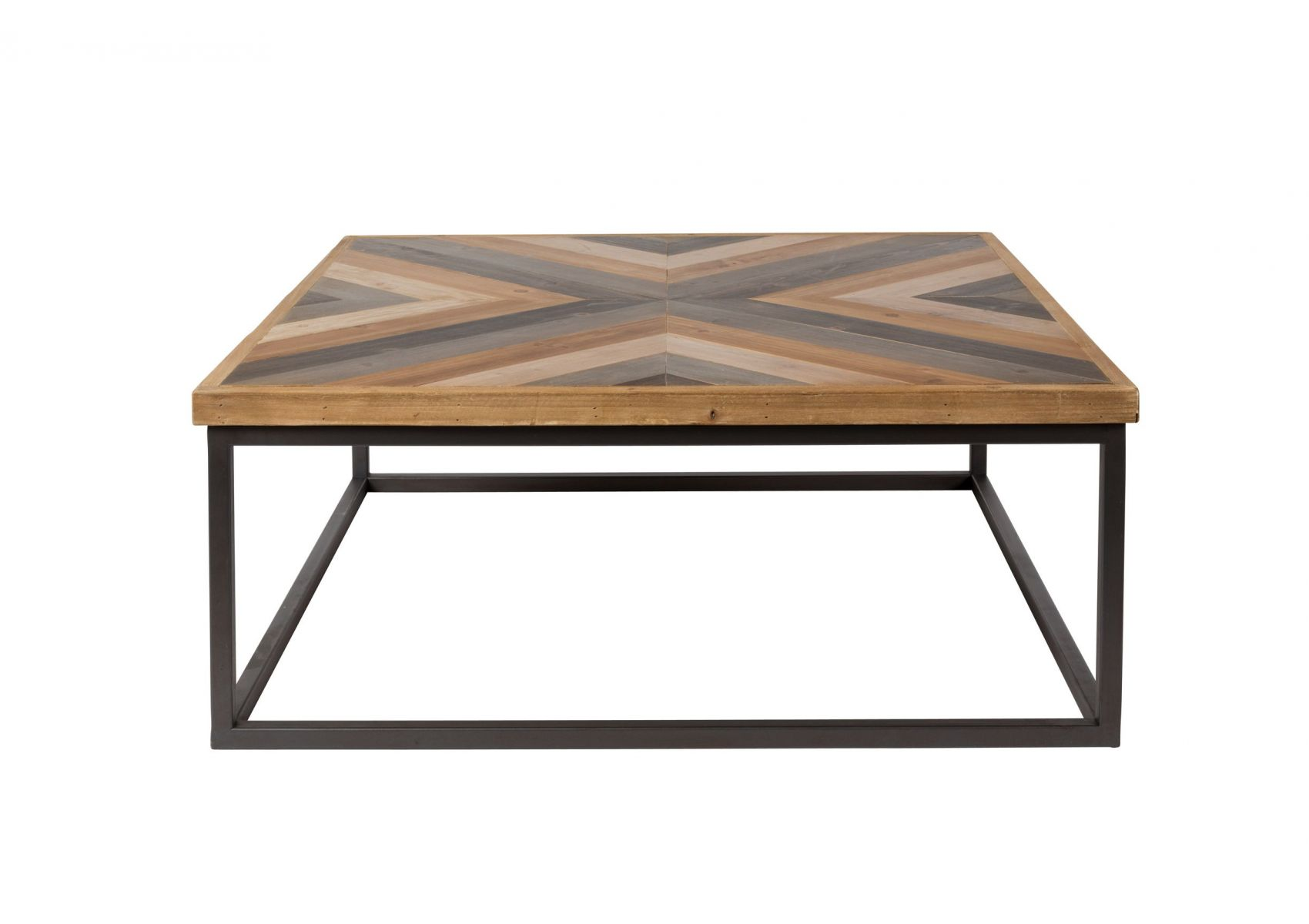 table basse carr e bois et metal style industriel joy boite design. Black Bedroom Furniture Sets. Home Design Ideas