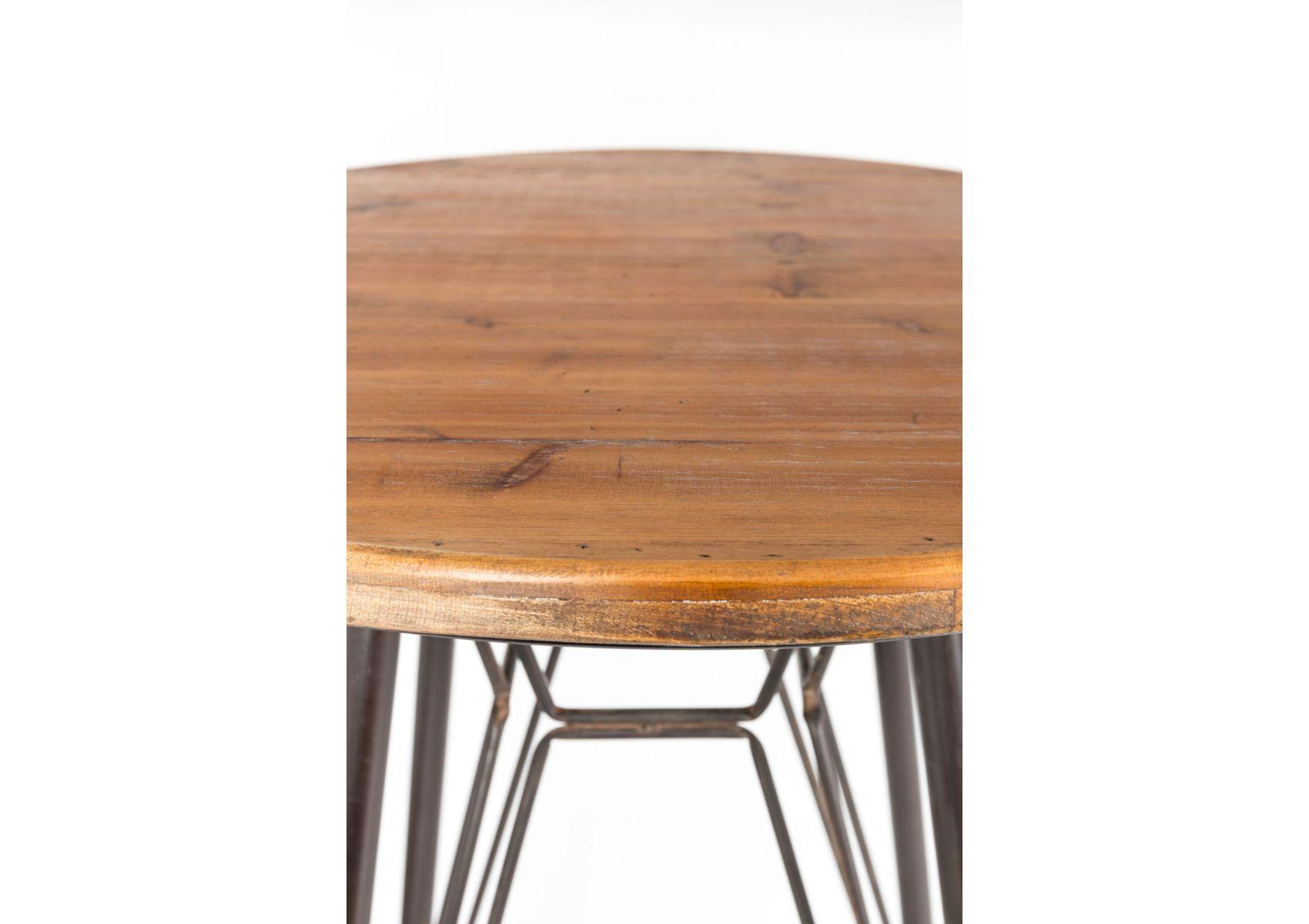 table de bar bois et m tal rouill industriel whiskey. Black Bedroom Furniture Sets. Home Design Ideas