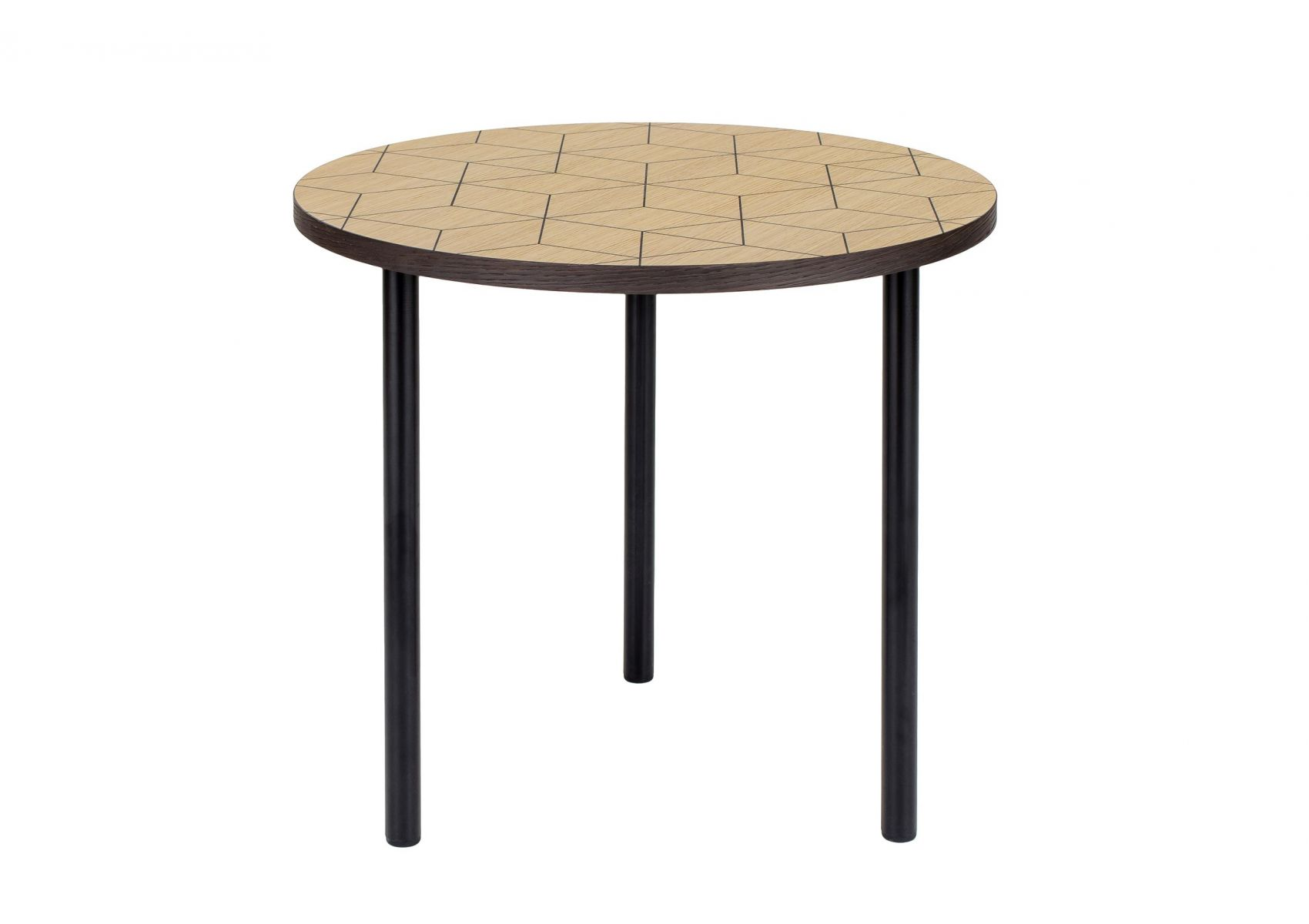 table d 39 appoint ronde avec motifs g om triques en 50 cm arty. Black Bedroom Furniture Sets. Home Design Ideas
