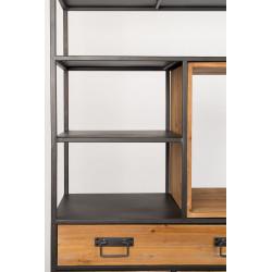Meuble de rangement métal et bois SAMUEL - Boite à design
