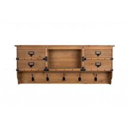 Patère et meuble de rangement en bois massif Amador - Dutchbone