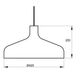 Suspension Brasilia S design Aluminor