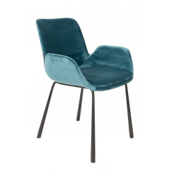 2 fauteuils Brit en velours - Zuiver