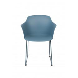 Lot de 2 chaises avec coque en plastique et pied métal Tango - Boîte à design