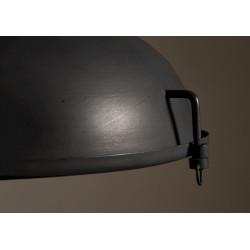 Suspension industrielle bois et métal noir RAW - Dutchbone