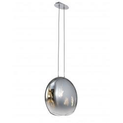 Grande suspension en verre soufflé Lens - Mantra