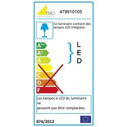 Lampadaire rectangulaire à LED Azur