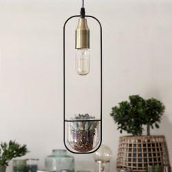 Suspension ampoule apparente avec vase ARBORETUM - RedCartel