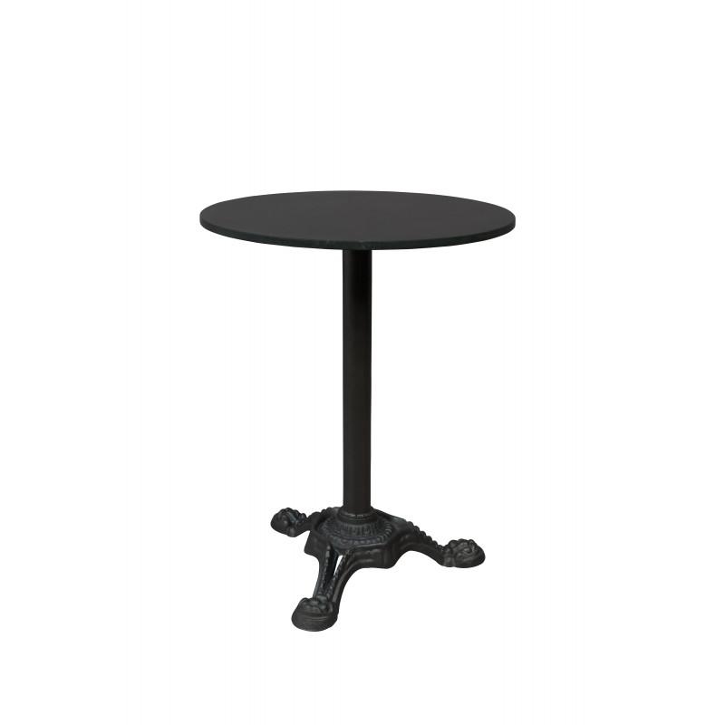 Table Bistrot Ronde Marbre.Table De Bistrot En Marbre Et Metal Mezza Dutchbone