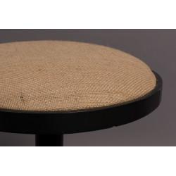 Tabouret bistrot 50 cm en métal et lin Mezza - Dutchbone