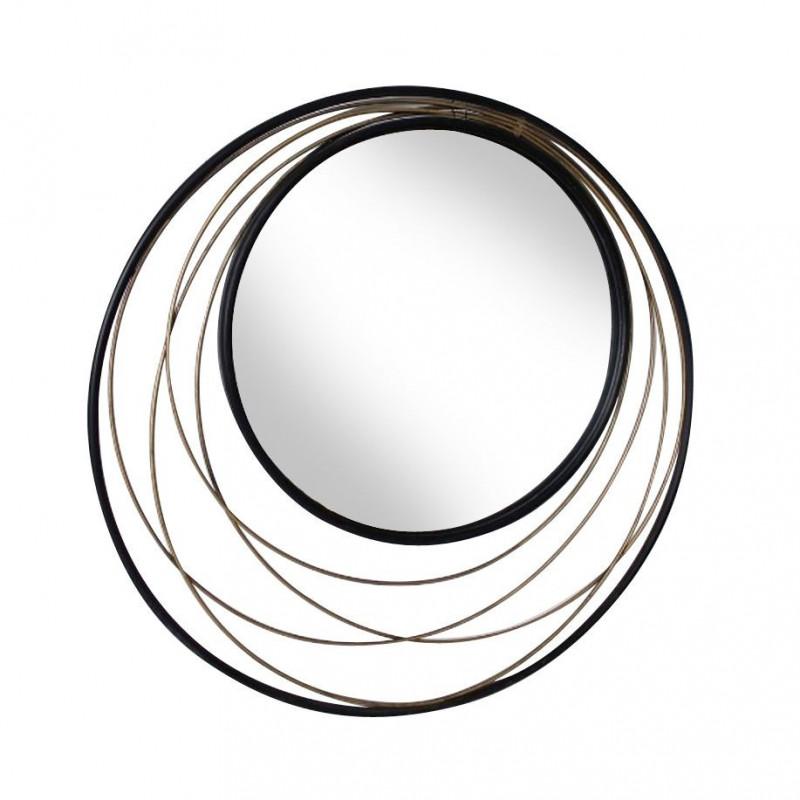 Miroir rond métal design Conrad 60 cm