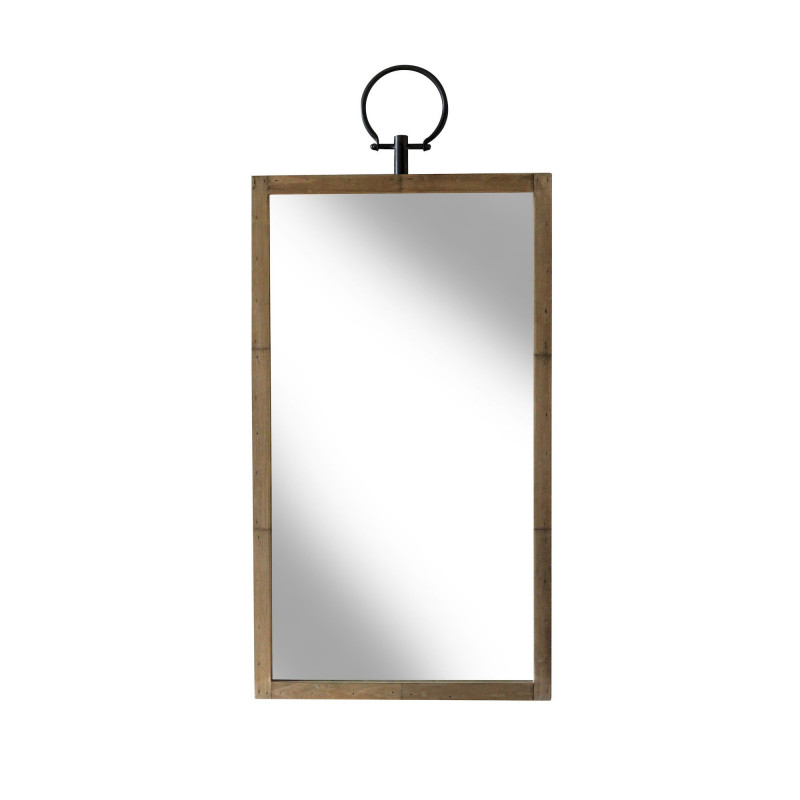 Miroir Glory rectangle en bois naturel Redcartel