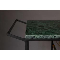 Chariot vintage marbre et métal MIL - Dutchbone