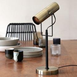 Lampe à poser vintage laiton brossé - Monroe