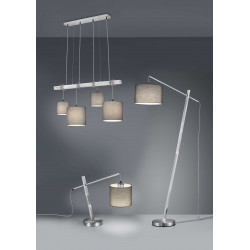 Suspension sur tige en métal 4 lampes - PADME