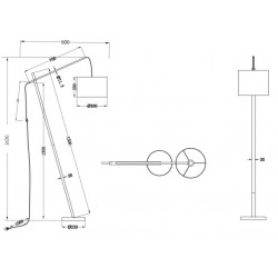 Lampadaire design réglable PADME
