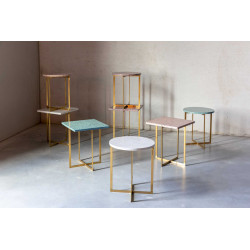 Table d'appoint en terrazzo ronde - LUIGI
