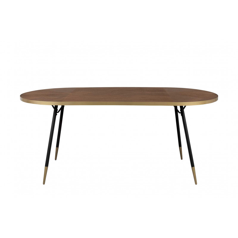 Table A Manger Vintage.Table A Manger Vintage En Bois Et Metal 180 X 90 Cm Denise