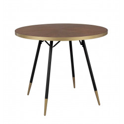 Table à manger vintage ronde 91 cm - DENISE