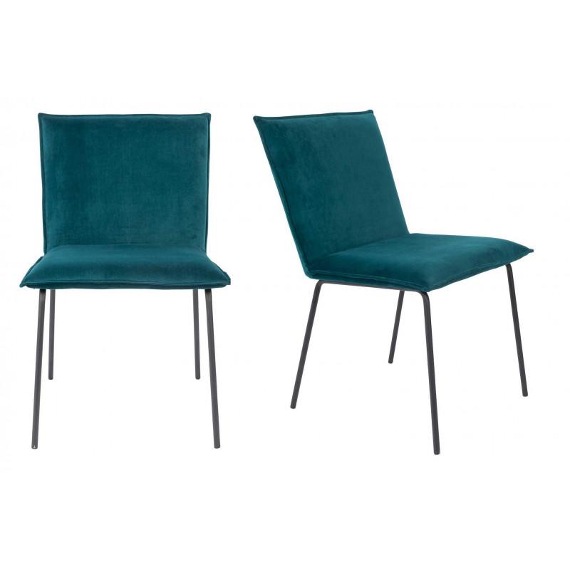 Lot de 2 chaises en velours FLOKE