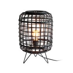 Lampe de table ne rotin noir Penang - Redcartel