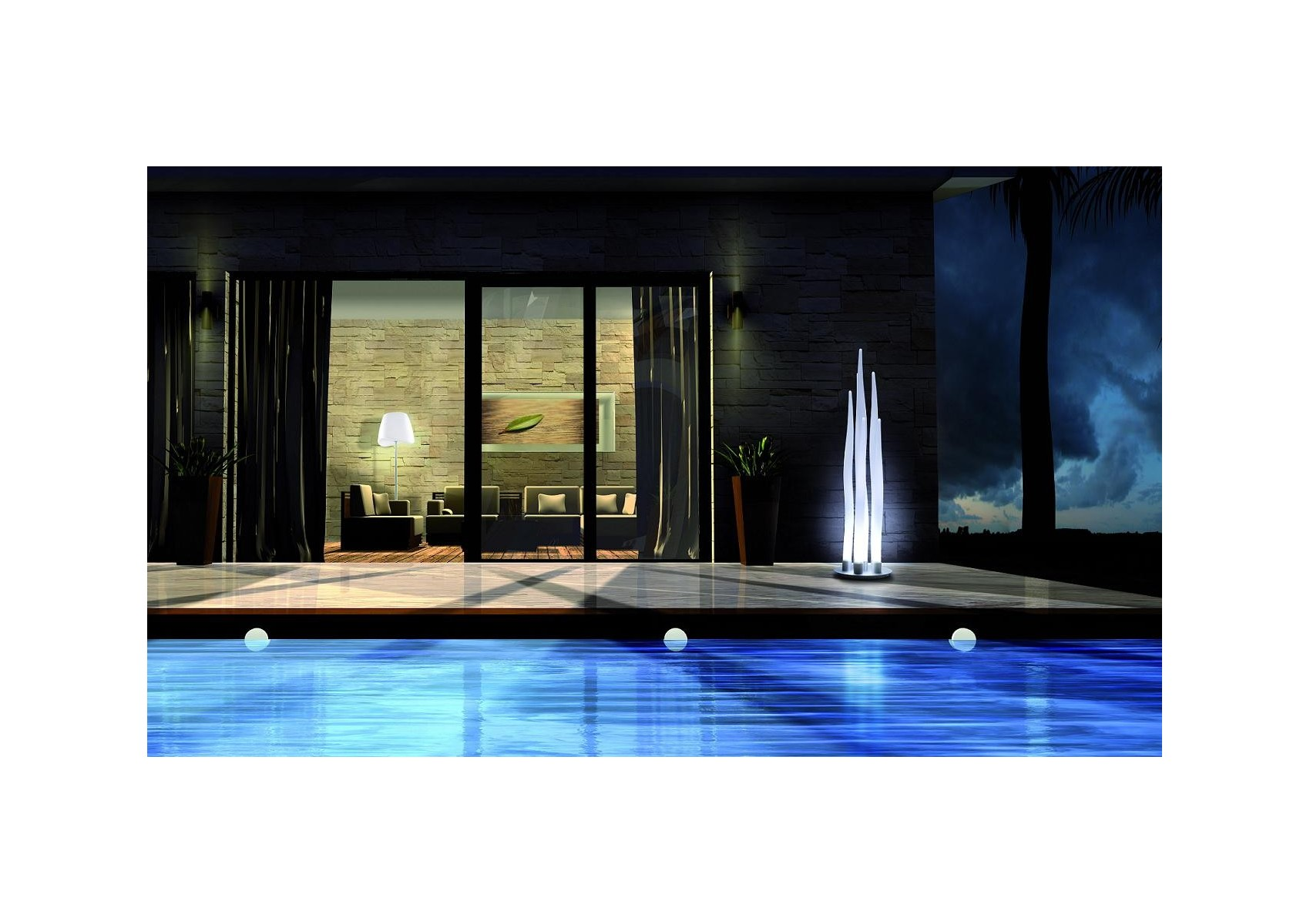 lampe poser design d 39 ext rieur de la collection estalaca. Black Bedroom Furniture Sets. Home Design Ideas