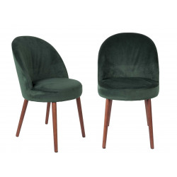 Lot de deux chaises en velours Barbara - Dutchbone