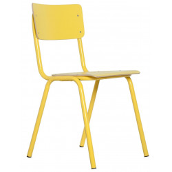 4 Chaises école BACK TO SCHOOL HPL par Zuiver