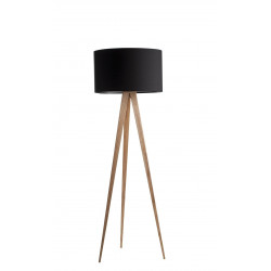 lampadaire design tripod wood