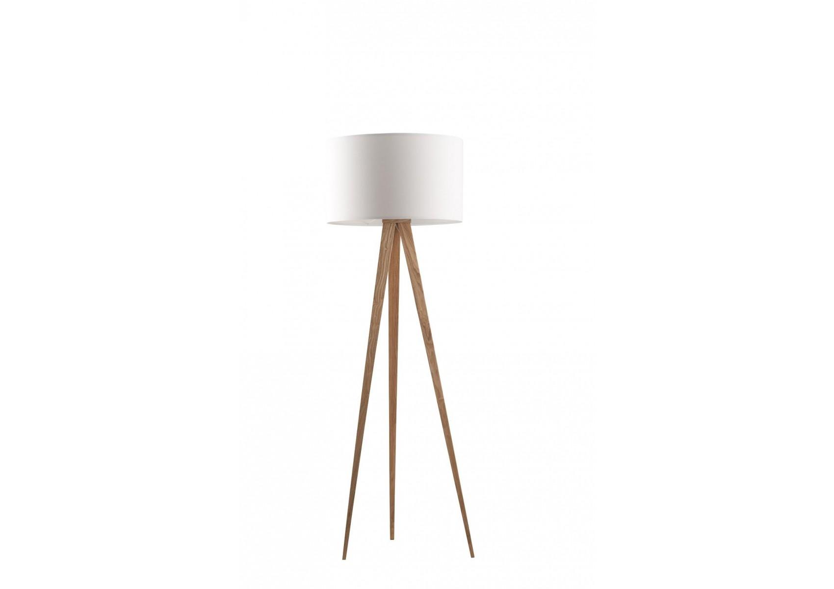 lampadaire tripod wood au look scandinave de chez zuiver. Black Bedroom Furniture Sets. Home Design Ideas
