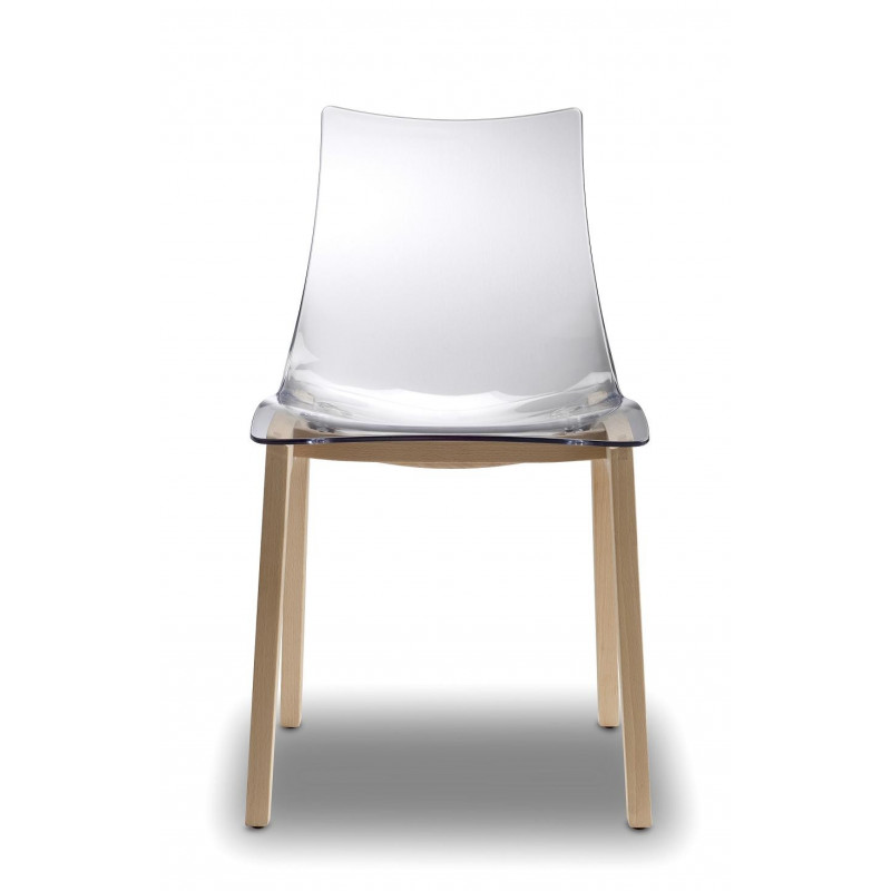 Chaise transparente design Natural Zebra par SCAB Design