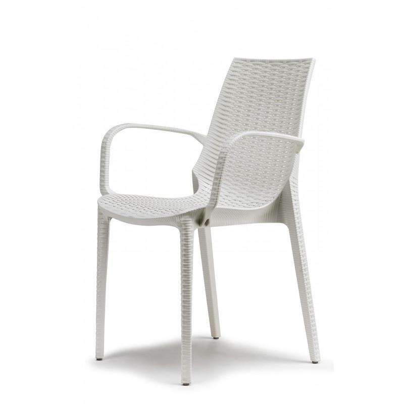 Chaise design Lucrezia avec accoudoirs Scab design
