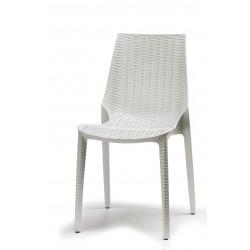 Chaise tissée design - LUCREZIA blanche - deco