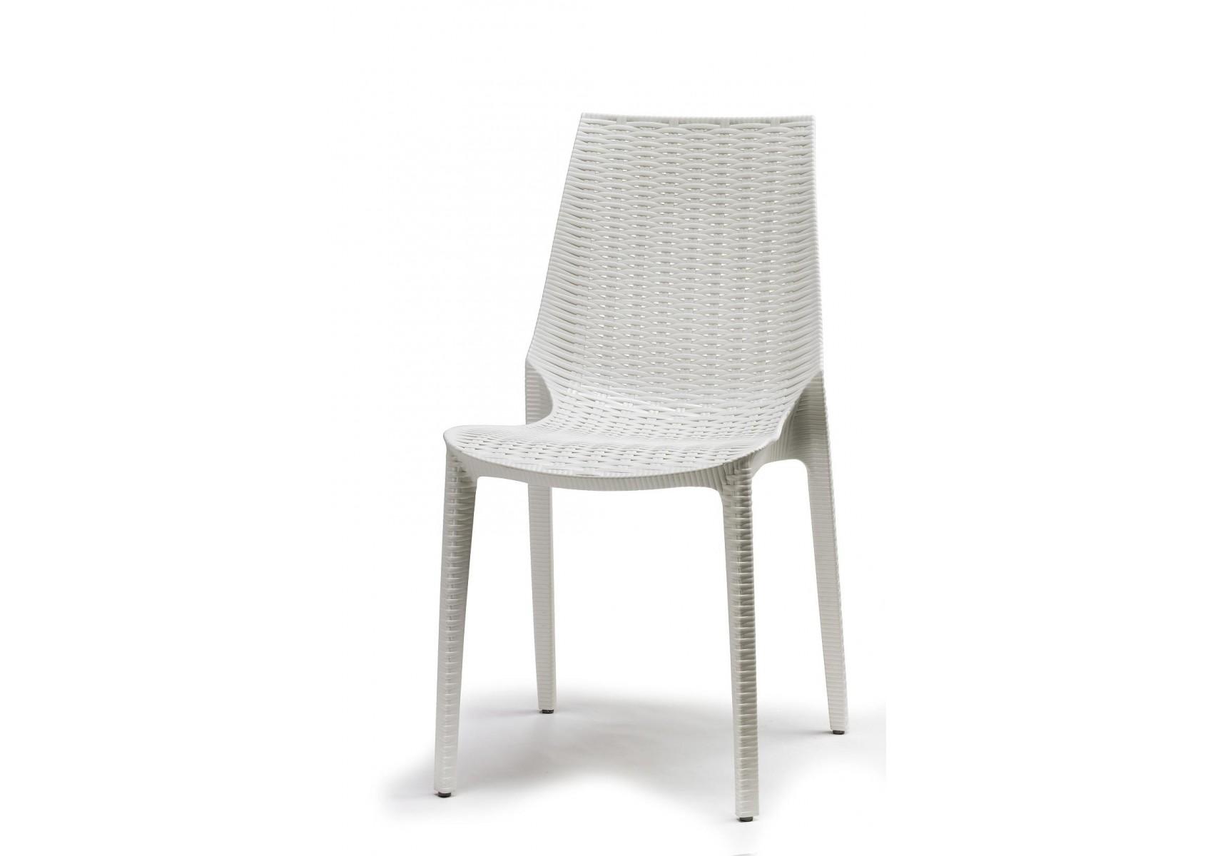 Chaise tiss e design lucrezia blanche deco boite for Chaise blanche design