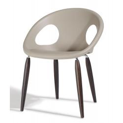Chaise - pieds bois naturel - NATURAL DROP - vendu à l'unité - déco