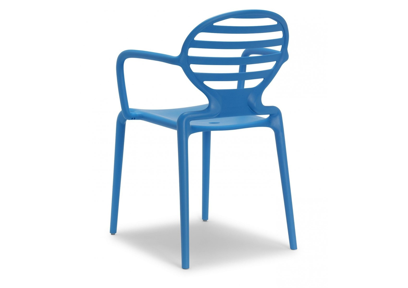 4 chaises design avec accoudoirs cokka lot de 4 for Lot de 4 chaises design