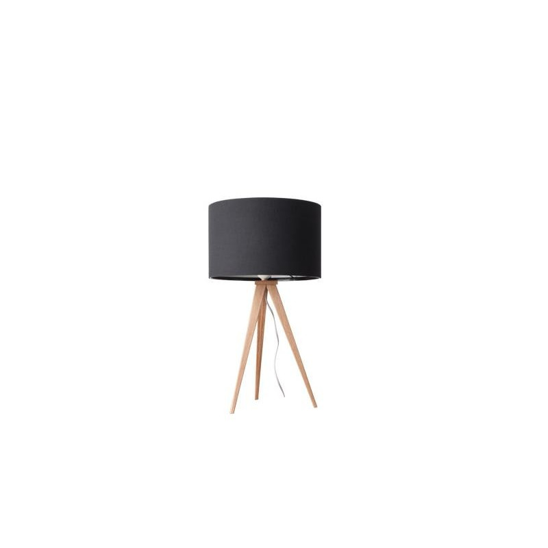 Lampe poser design tripod wood deco zuiver boite for Miroir tripod