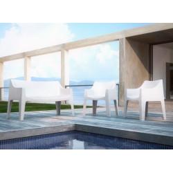 2 Fauteuils design de jardin - COCCOLONA - Lot de 2 - deco