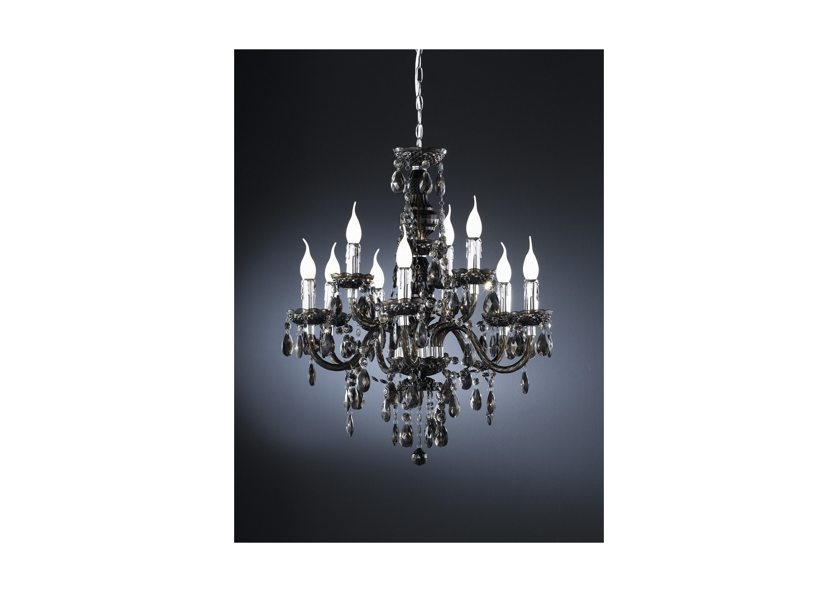 lustre chandelier baroque neuf lampes. Black Bedroom Furniture Sets. Home Design Ideas