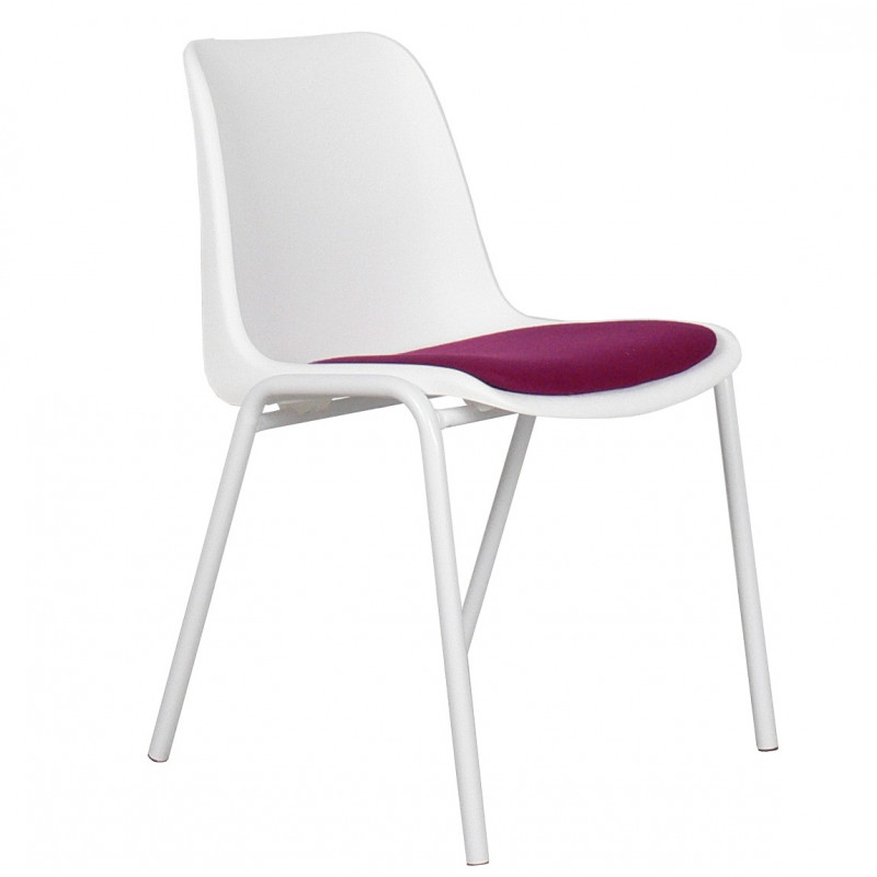 4 Chaises design back to gym white - lot de 4 - zuiver