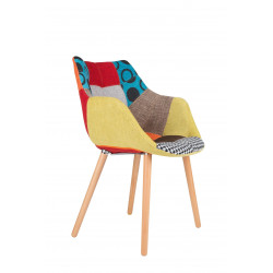 Chaise design Twelve PATCHWORK deco originale - Zuiver