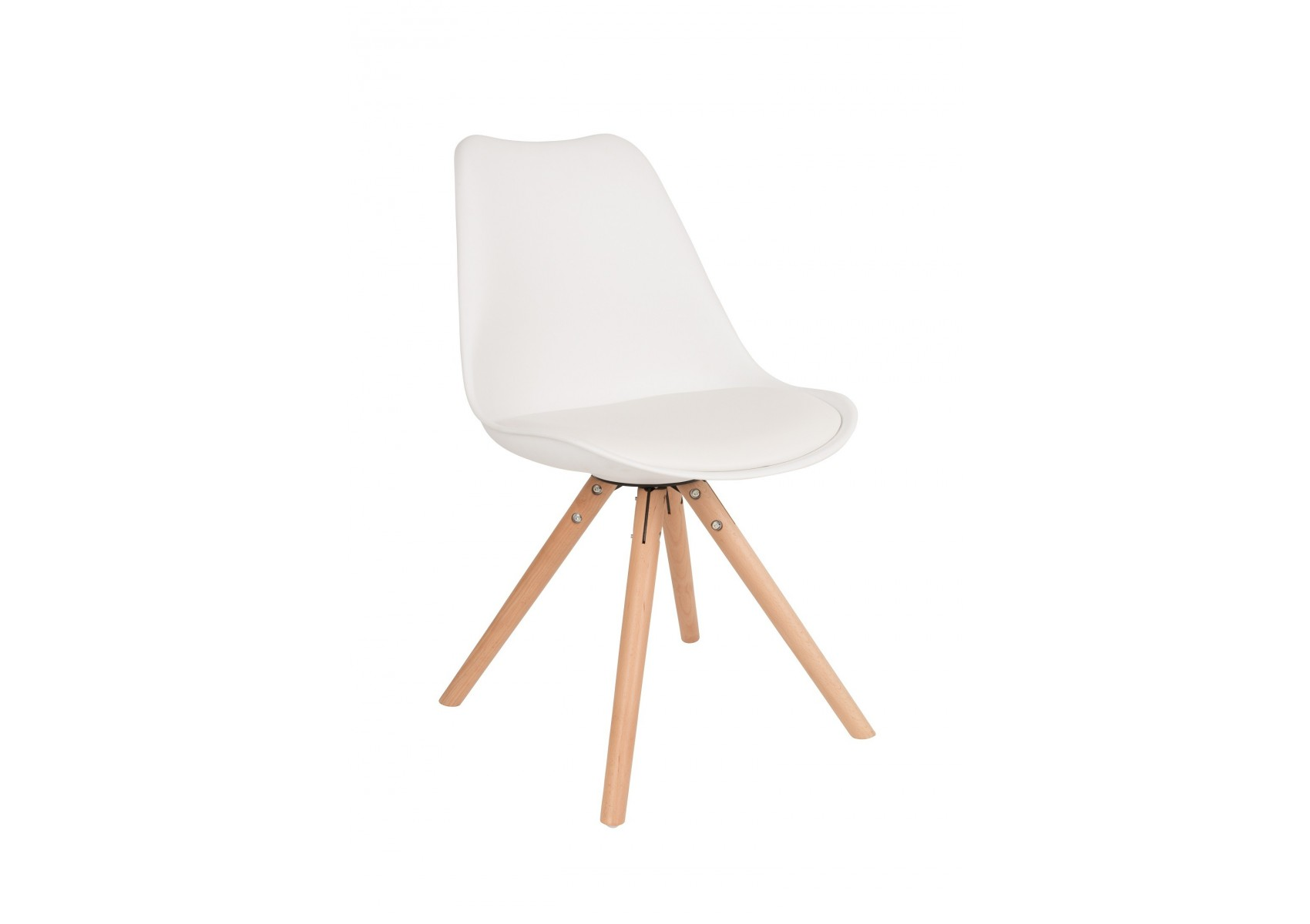 Chaise design tryck scandinave pied bois en lot de deux - Chaises design scandinave ...