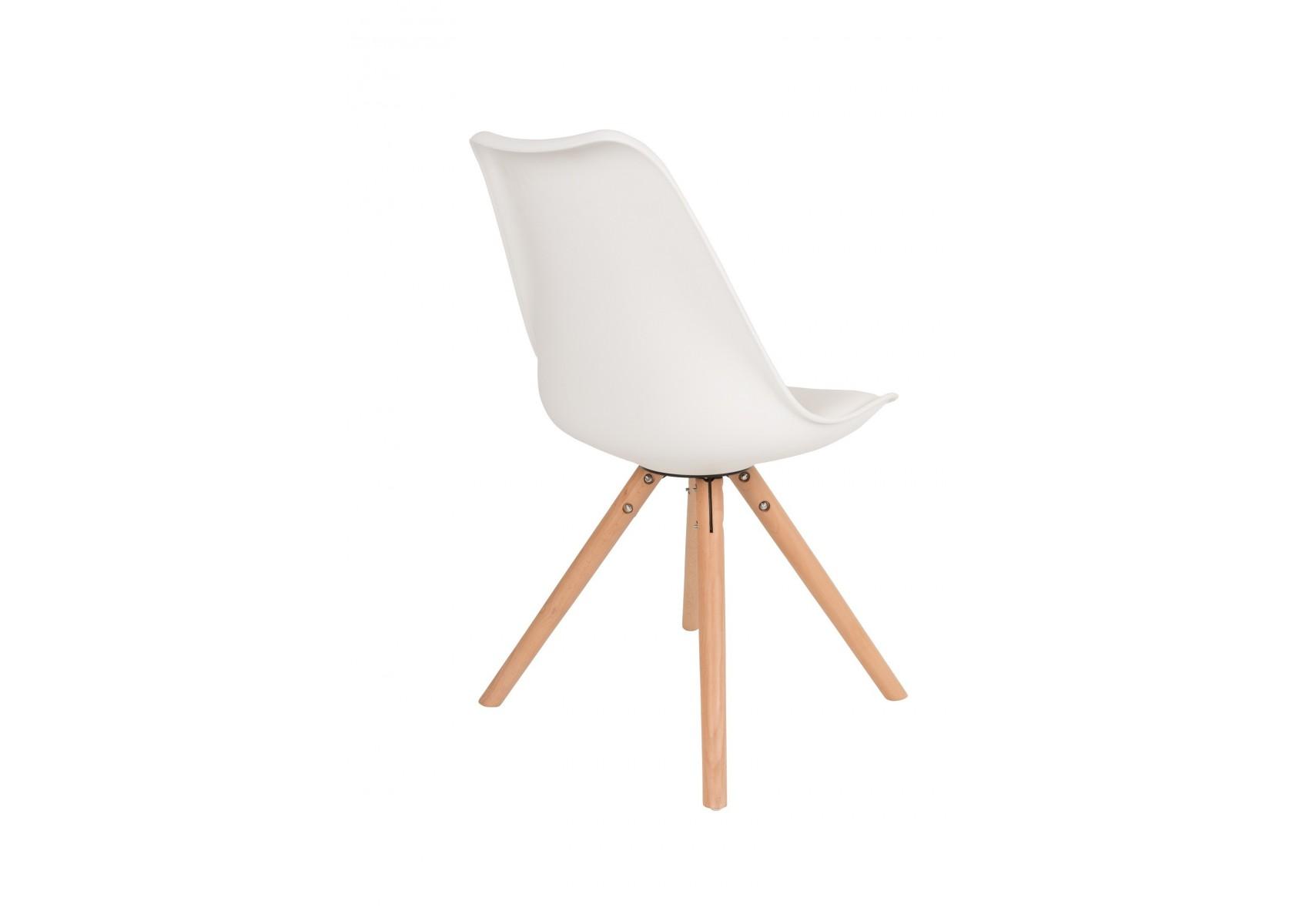 Chaise tryck scandinave pied bois en lot de deux - Chaises design scandinave ...