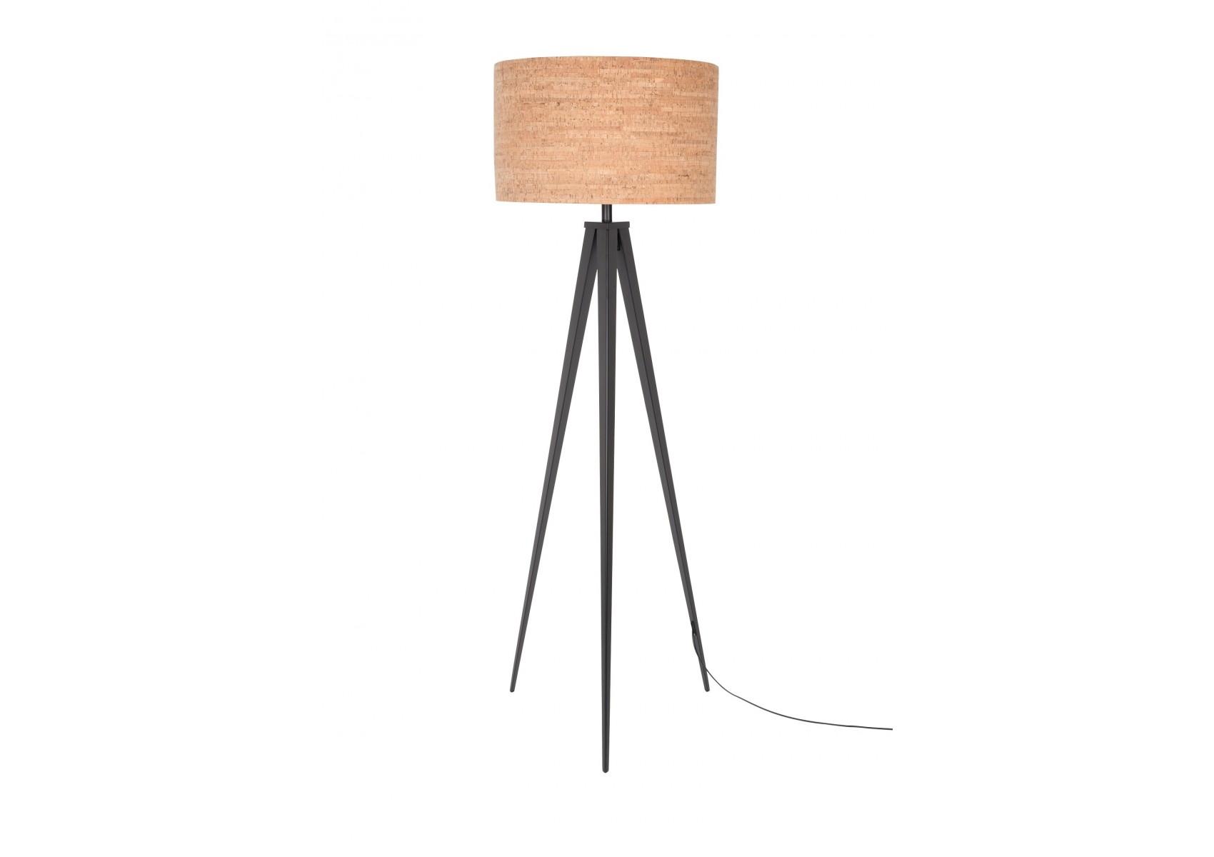 lampadaire design tripod cork deco zuiver boite design. Black Bedroom Furniture Sets. Home Design Ideas