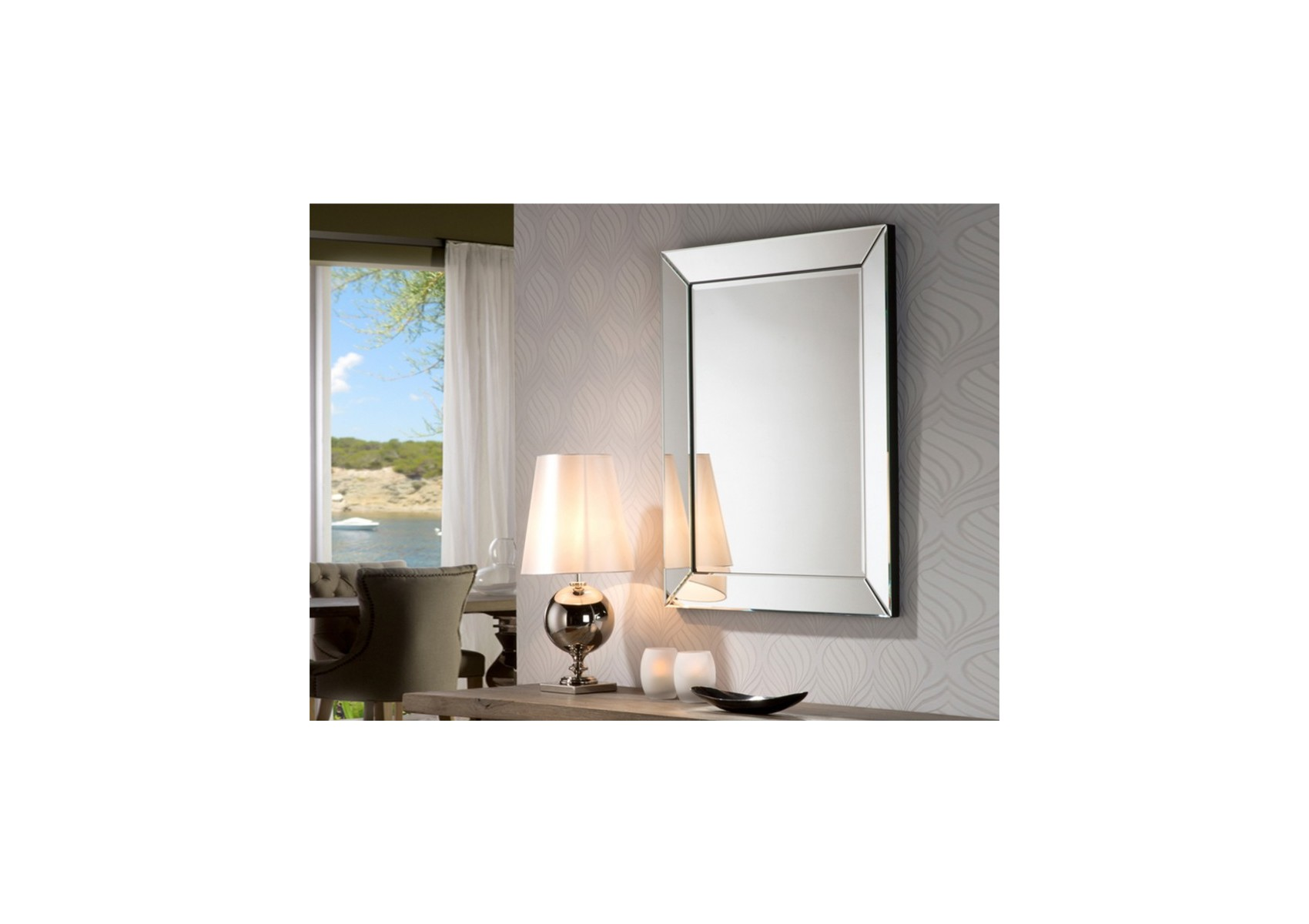 Miroir original design roma petit deco schuller for Miroir original