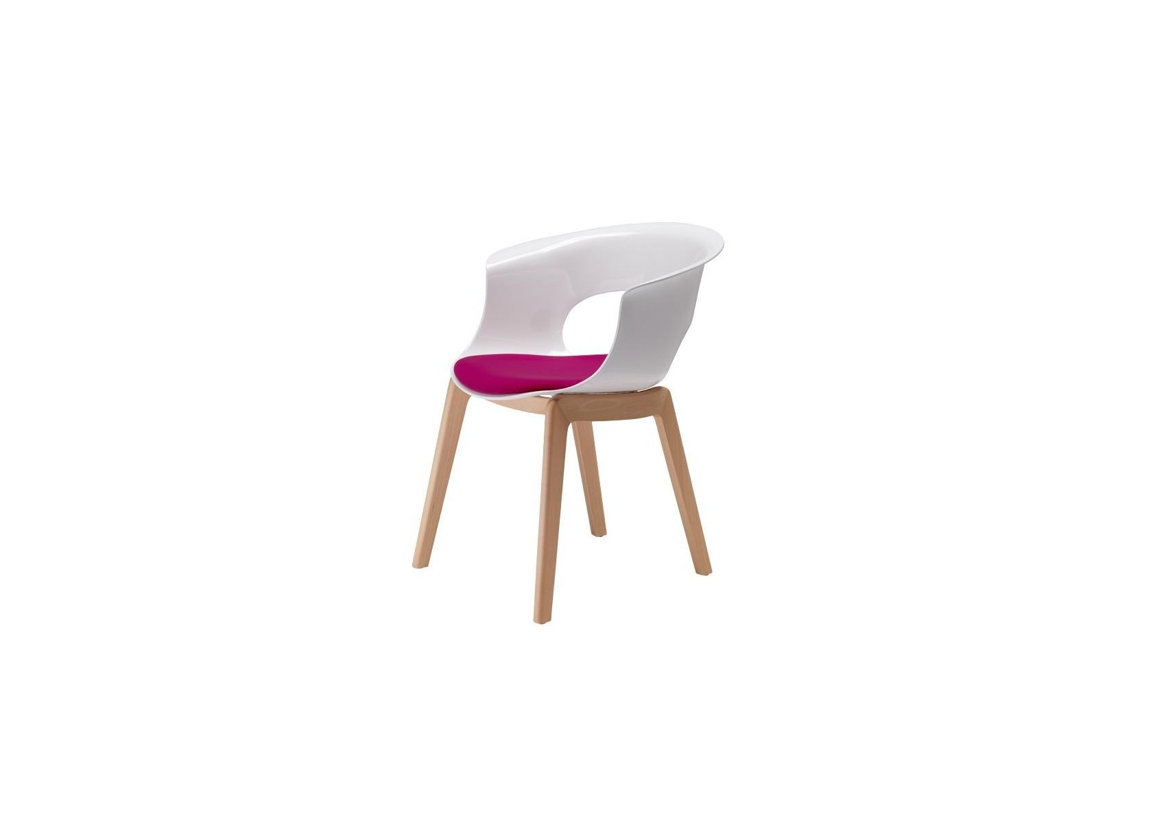 chaise design avec pieds bois - natural miss b antishock avec ... - Chaise Blanche Pied En Bois