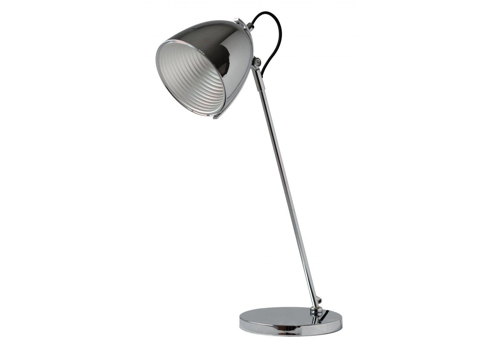 Lampe de bureau style industriel ines lt chrome boite - Lampe de bureau style industriel ...