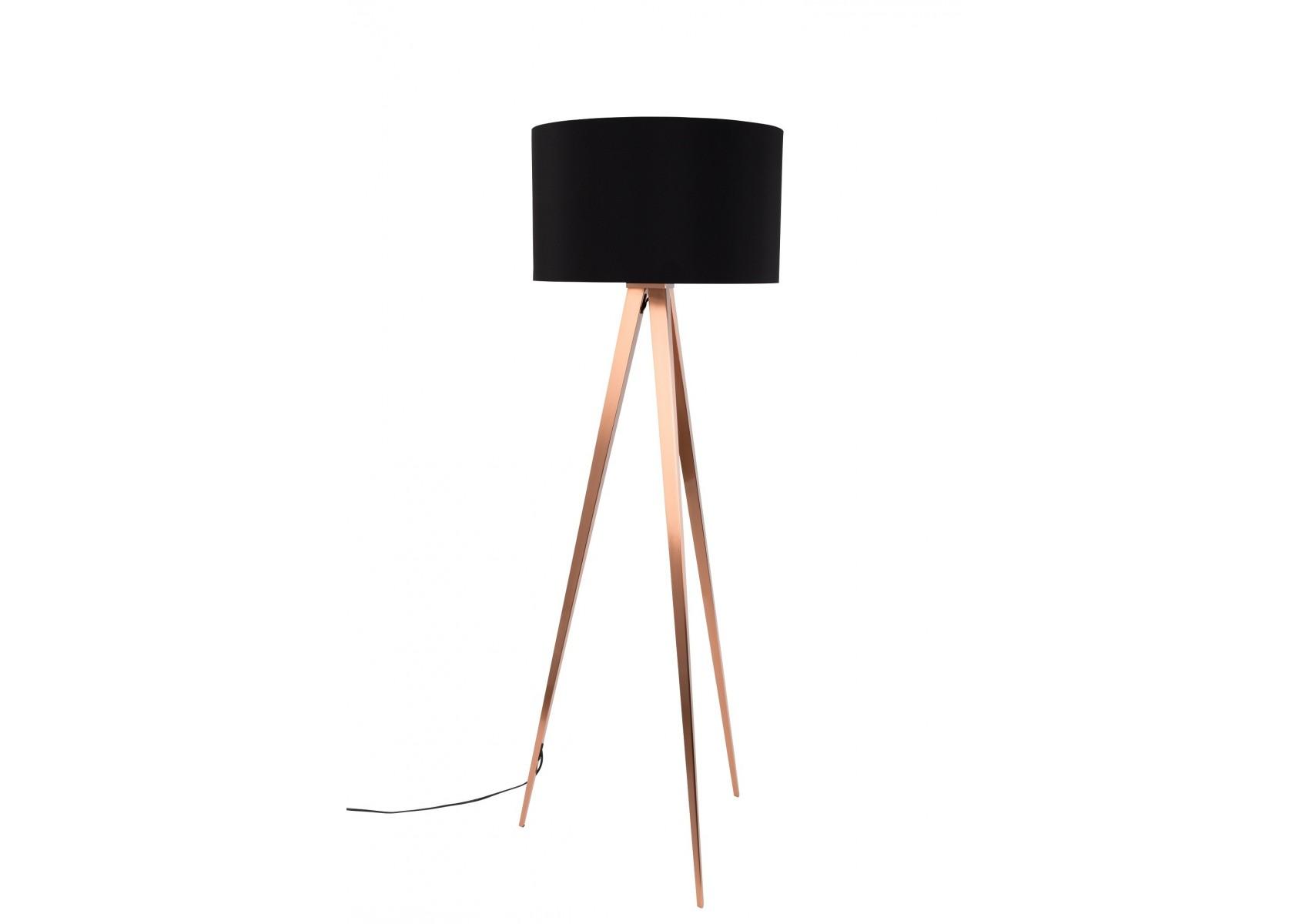 Lampadaire tripod copper avec pied cuivr en tr pied for Miroir tripod