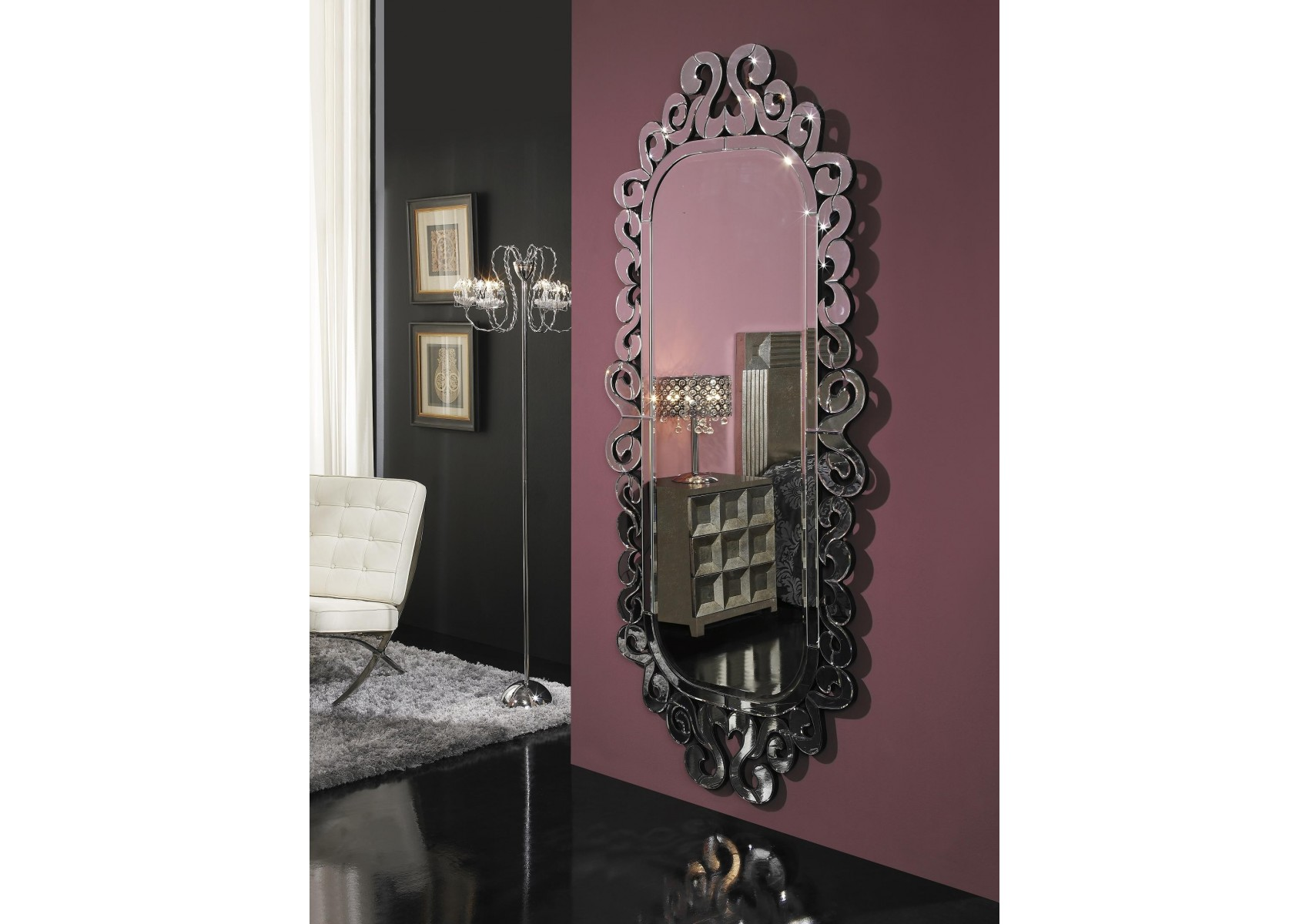 Tr s grand miroir sorrento design deco schuller boite for Deco grand miroir