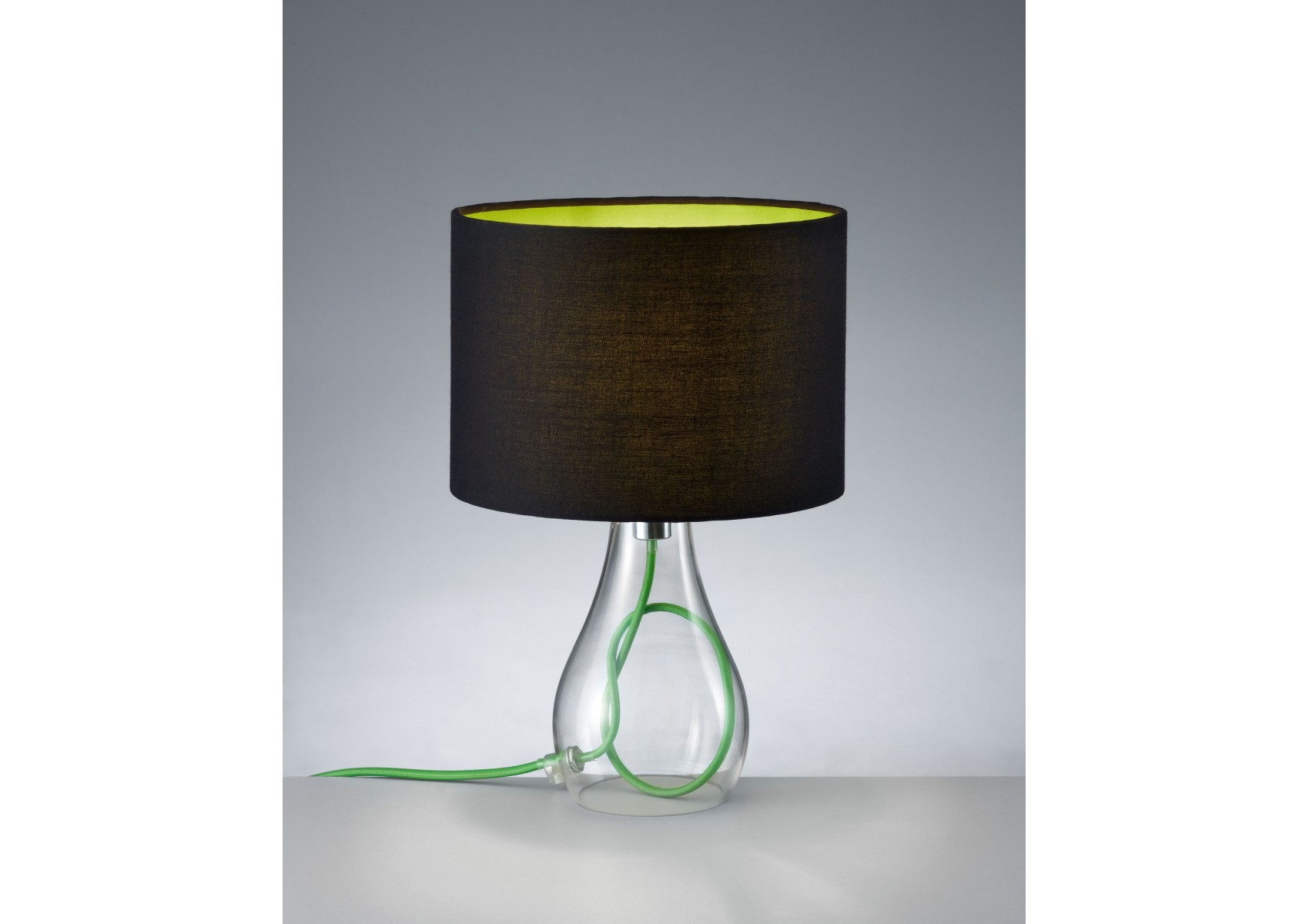 lampe de table marine en verre et fil de couleur boite. Black Bedroom Furniture Sets. Home Design Ideas